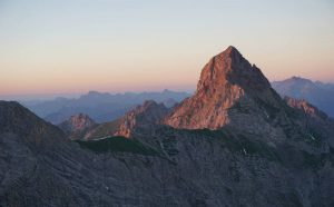 Zimba (2643 m) in the evening light
