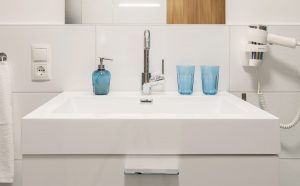 """Bathroom in the """"Soldanella"""""""