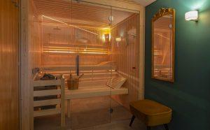 Finnish sauna on the upper floor